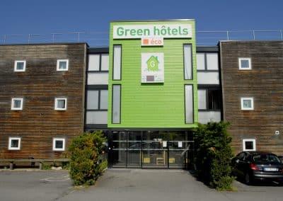 entrée principale green hotels fleury